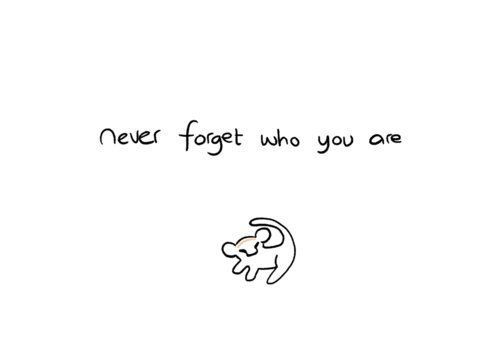 never forget who you are, lion king, quotes, words