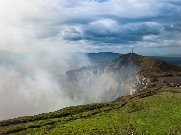 """The Masaya Volcano National Park in Nicaragua comprises 54 km² and includes 2 volcanoes & 5 craters, which have erupted several times in history. The Spanish baptized the active volcano """"The Mouth of Hell"""", so they planted a cross on the crater lip in the 16th century in order to exorcise the Devil."""
