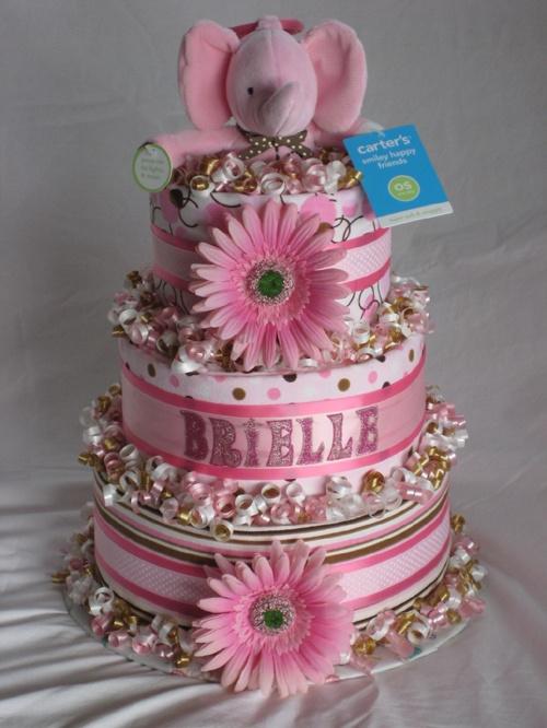 Basket Baby Shower Cake