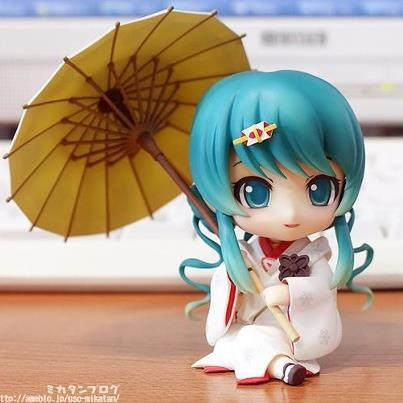 This is actually really cute, even though I don't like miku
