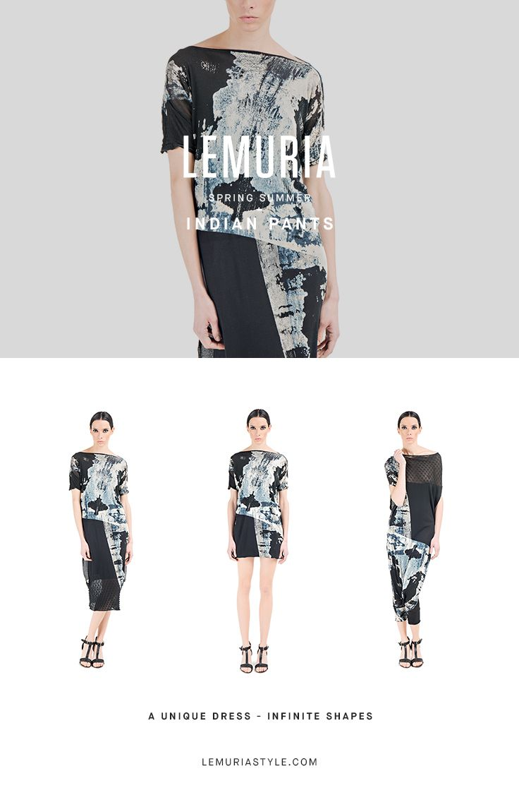 Overall in cotton,printed by hand, wearable as a dress or shirt. #woman #clothing #multifunctional #dress #italy #brand #designclothing #design #italianbrand #boutique #cotton #jersey #lemuria #ss16 #collection #dress #overall #convertible #convertibledress #lemuria #lemuriaclothing #lemuriastyle