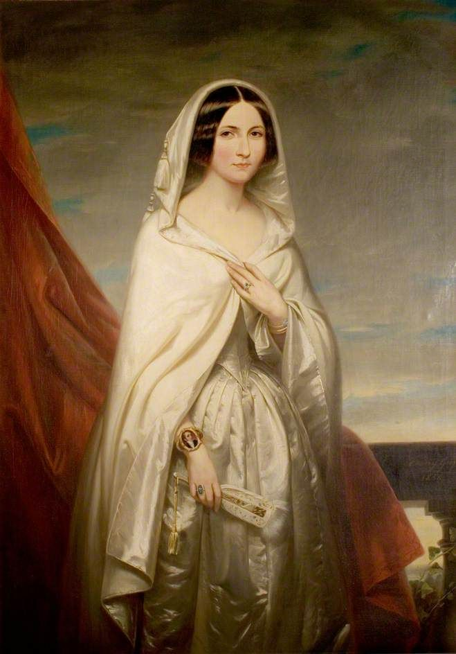 """Katherine Mary Webb Palmer (later Lady Lambert)"", Fanny Geefs, 1846; Newstead Abbey NA 500"
