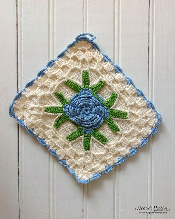 Mejores 50 imágenes de Vintage Crocheted Potholder Collection en ...