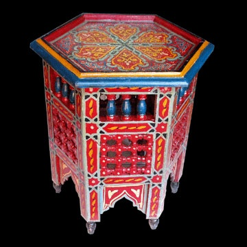 Hand painted moroccan table for the home pinterest for Moroccan hand painted furniture