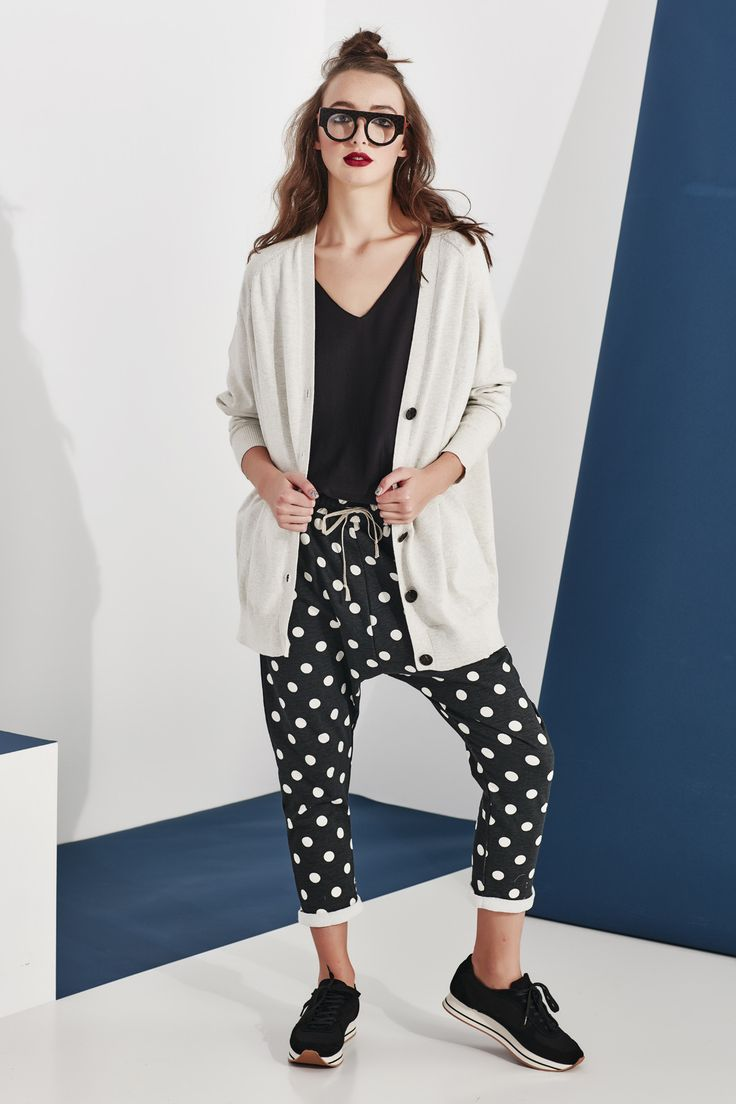 The perfect slouch cardi. Available in both grey and black this cardigan has got you covered- literally. The oversize shape works brilliantly with the larger than life star on the back and looks great worn with the 'C's All That' pants