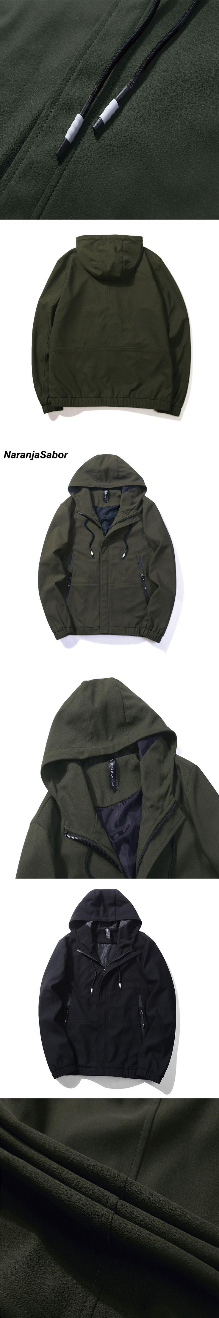 NaranjaSabor 2017 Autumn Men's Jacket Army Bomber Jackets Mens Clothing Slim Pilot Flight Coat Baseball Male Mens Coats EU SIZE