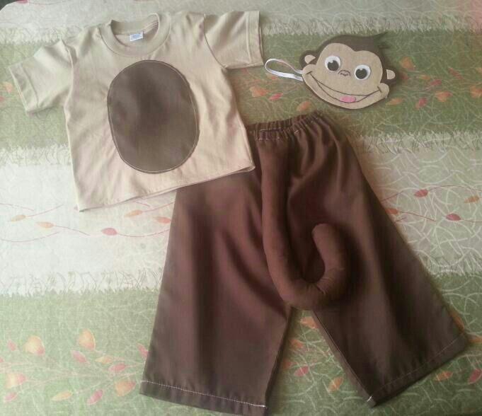 Disfraz de mono elaborado por @jaidys