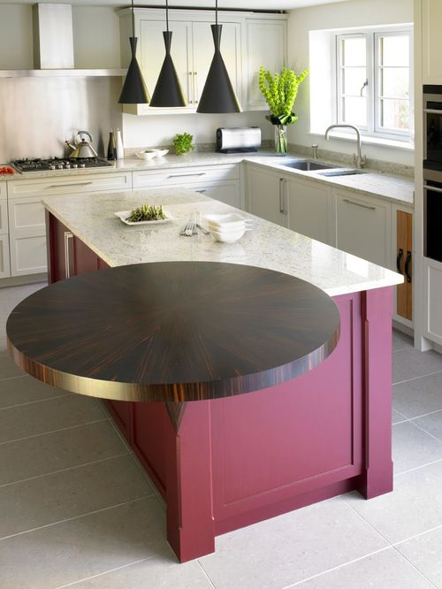 interesting square and round kitchen countertop