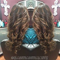Classy and Sassy Salon - Plano, TX, United States. I did balayage on her and Klix hair extensions for length!