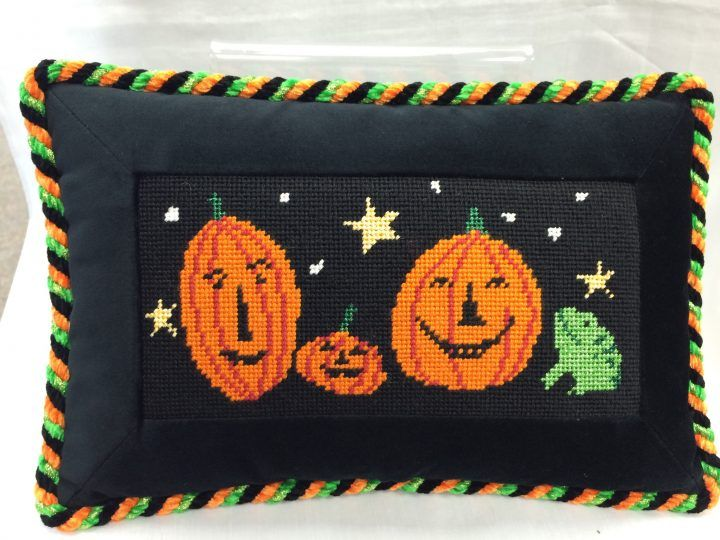 Pumpkin Pillow | The Needlepointer