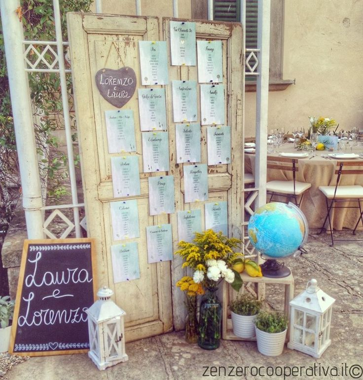 Light blue and yellow for an original #tableau de mariage / #wedding table plan.