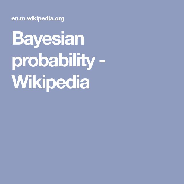Bayesian probability - Wikipedia