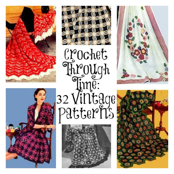 Let's travel back in time with these free vintage crochet patterns.