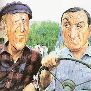 Charles da Costa - Dessinateur Caricaturiste - Lino Ventura et Bourvil - Les grandes Gueules