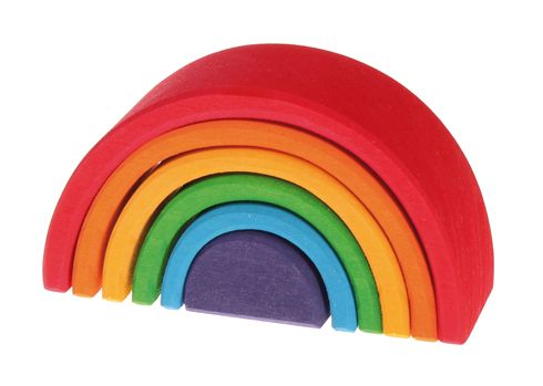 Grimm's Wooden Stacking Rainbow – Medium Inspired by the teachings of Rudolph Steiner. Made from FSC sourced sustainable wood.