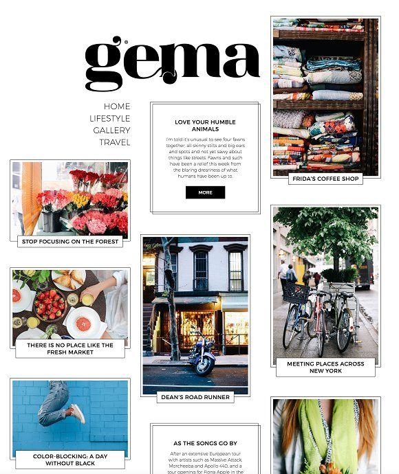 GEMA - Personal Blogging Theme by Pixelgrade on @creativemarket