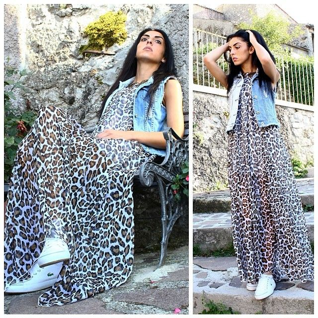 #instamoda #instafashion #denim #animalstyle #leopardstyle #longdress #italiangirl #scattiitaliani #instagood #fashionthings #likeforlike #followme #followforfollow #outfit #luisa