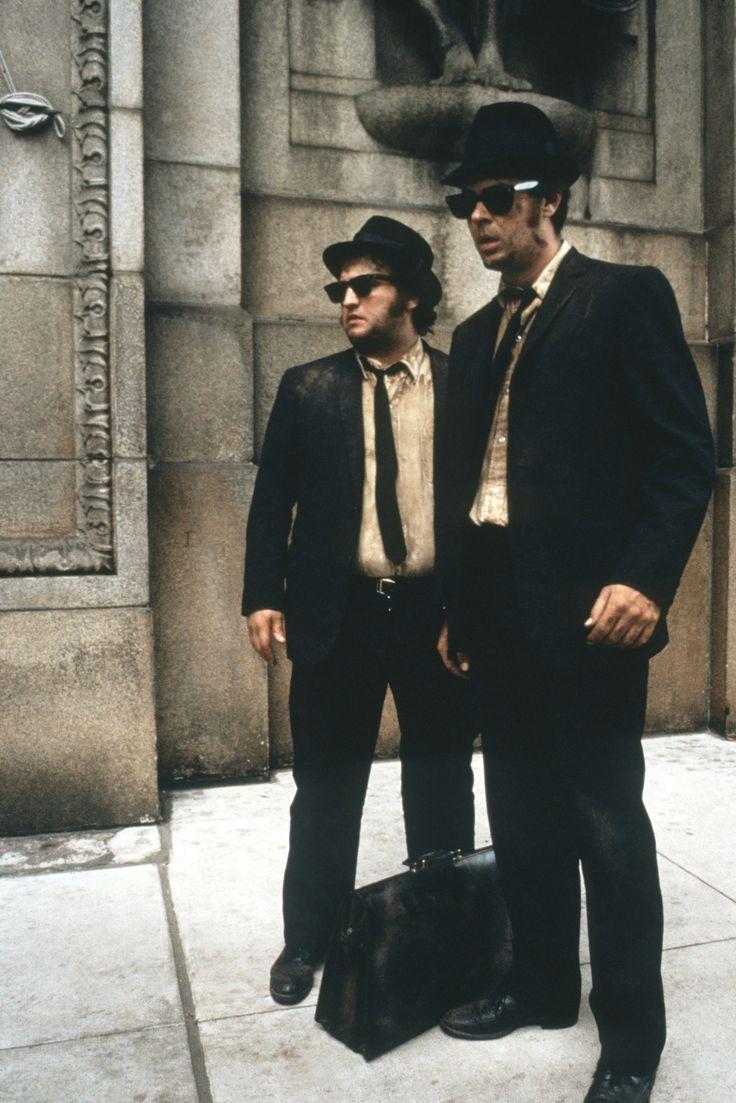 John Belushi and Dan Aykroyd, The Blues Brothers, 1980.