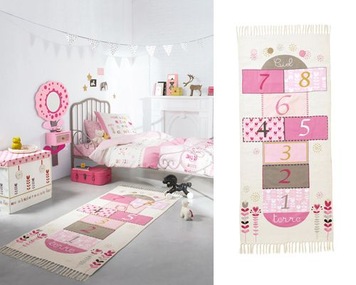 10 alfombras infantiles para jugar / 6- Alfombra para niña 'rayuela', en Vertbaudet