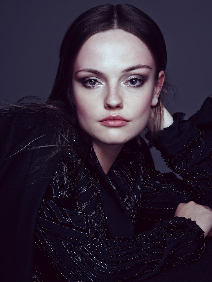 EMILY MEADE By JACOB BROWN Photography CHRIS COLLS  Emily looks stunning here with dark hair!