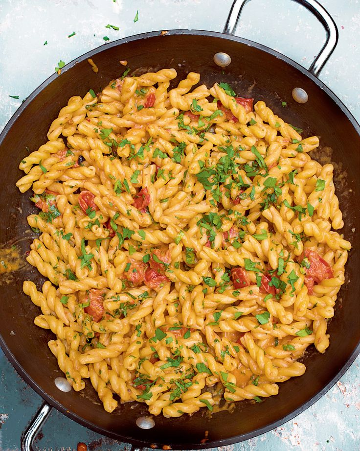 Gemelli with Anchovies, Tomatoes and Mascarpone