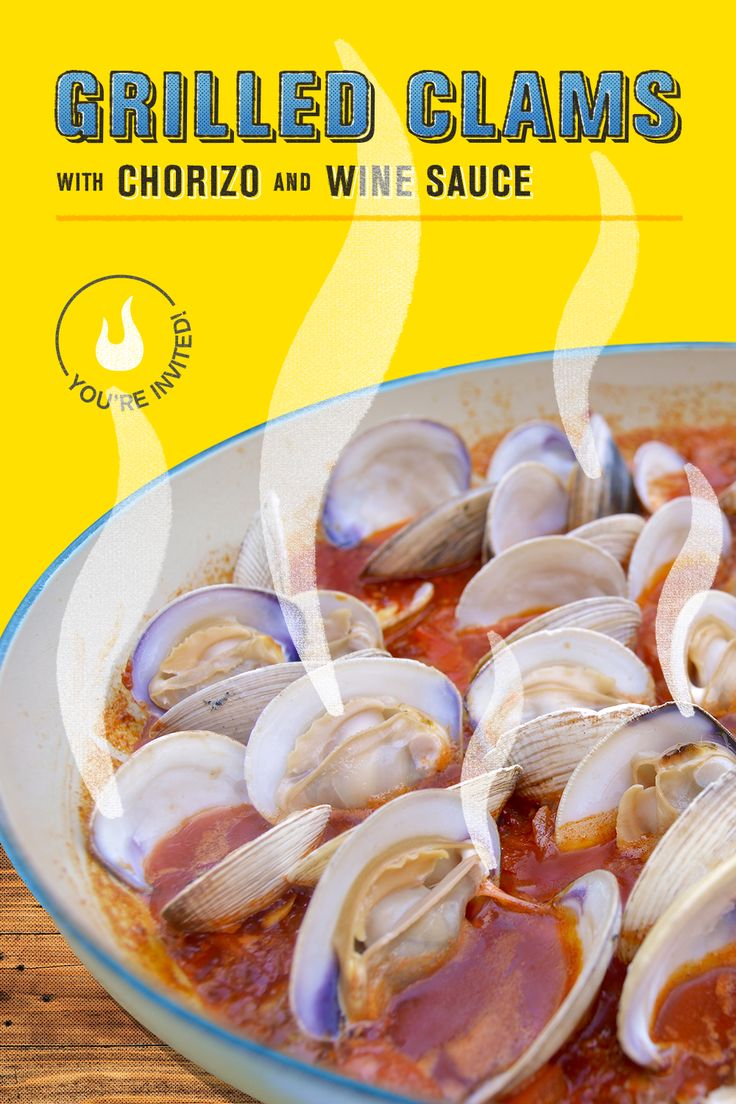After a long day at the beach, grilled clams with chorizo and white wine butter sauce, is the perfect way to bring the sea home with you. The bright acidity of the tomato and wine, the smokiness of the grilled clams, and the richness of the chorizo all combine to leave your tastebuds swimming in flavor. Check out chef Loryn Purvis' perfect summer recipe. | Char-Broil