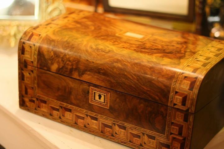 Love the deep colours of this fine wooden box for sale at Northcote Road Antiques. by Northcote Road Antiques Market
