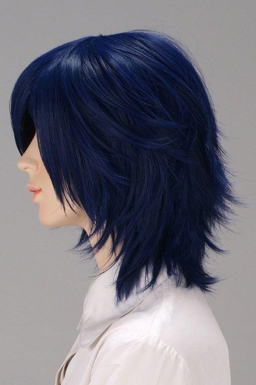 Short navy blue hair - this but shorter