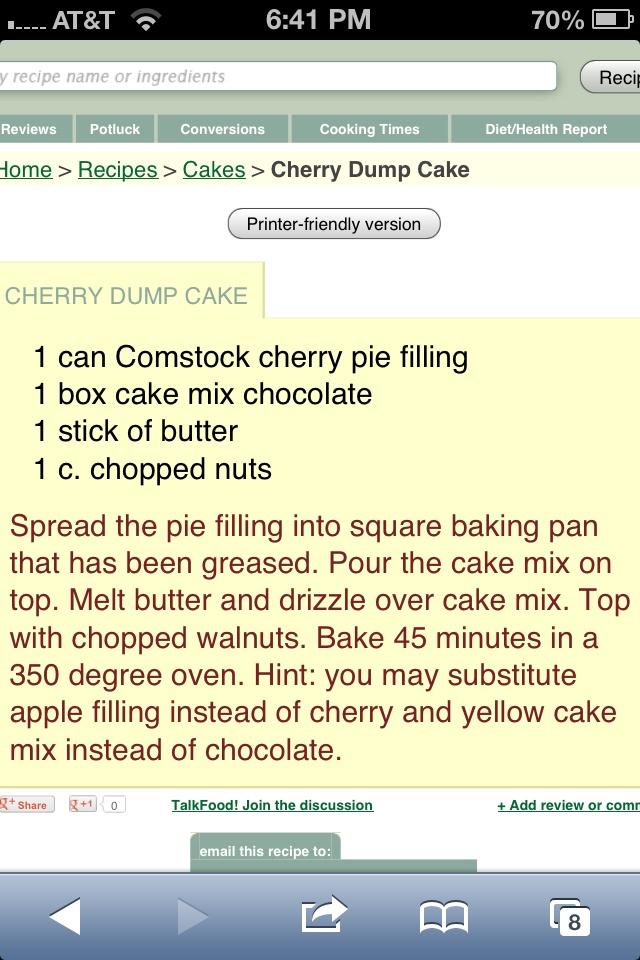 Cherry Dump CakeDump Cake
