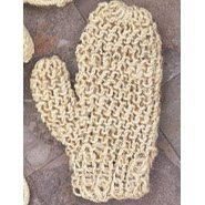 "Natural SISAL fiber GLOVE Mitt SCRUBBER BATH shower exfoliate Body NEW by Spacific. $9.99. This full sisal glove is the perfect choice for at-home spa treatments. Natural. 9.5"" long. Get Smooth  Polish your skin with nature's own Sisal, a highly sustainable, eco-friendly vegetable fiber from the Agave Cactus family.  The firm fibers give stimulating massages, dry or with soap and water, to leave skin soft, smooth and glowing.    Sisal fiber bath mitt  Measures ..."