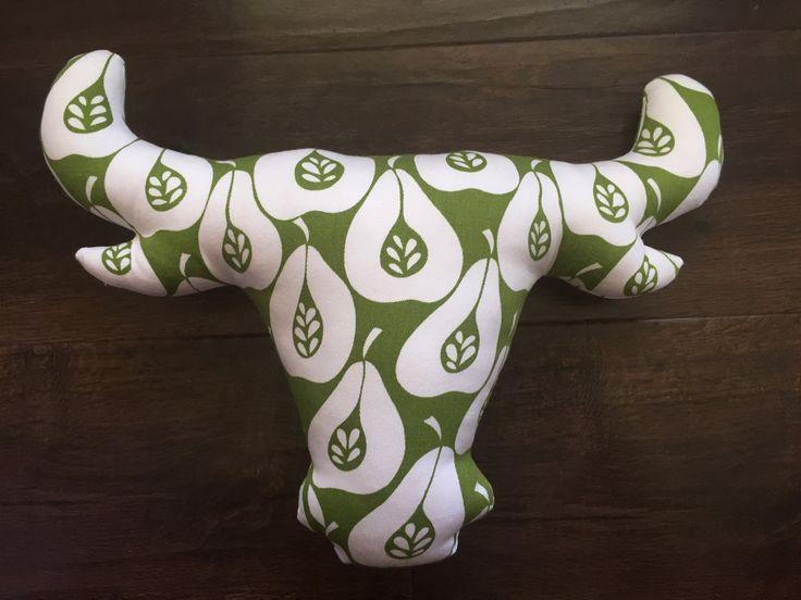 Cow horns, long horn, bull horns, decorative pillow, faux taxidermy, Bull, wall art, cow pillow, throw pillows, sofa pillows, cow lover by RicketyGates on Etsy
