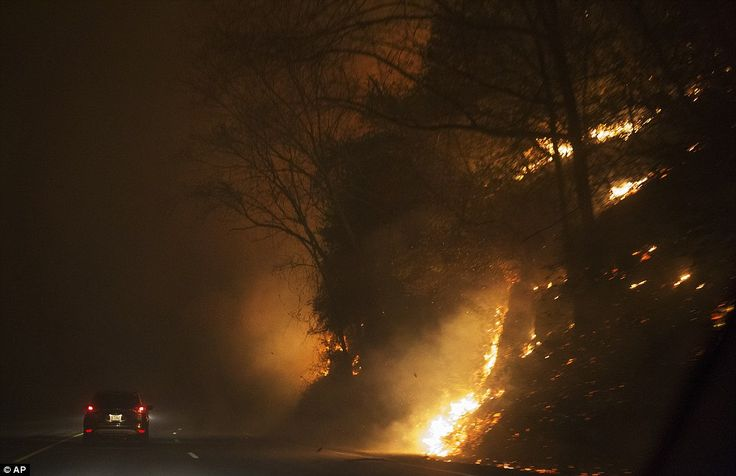 Dollywood has been evacuated and tourists are fleeing the area as wildfires rip through Ea...