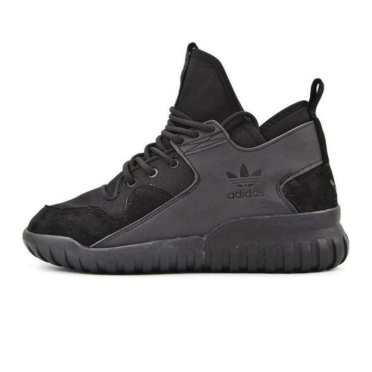 2016 Adidas Tubular X hombres Trainers Negro 3M Zapatos para correr S74922
