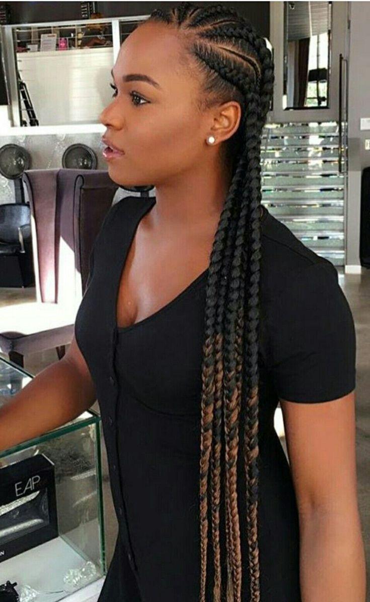Tresses collées avec rajouts cheveux crépus naturels #BlackGirlBraidedStyles
