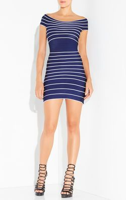 Marisol Jacquard Bandage Tipping Dress