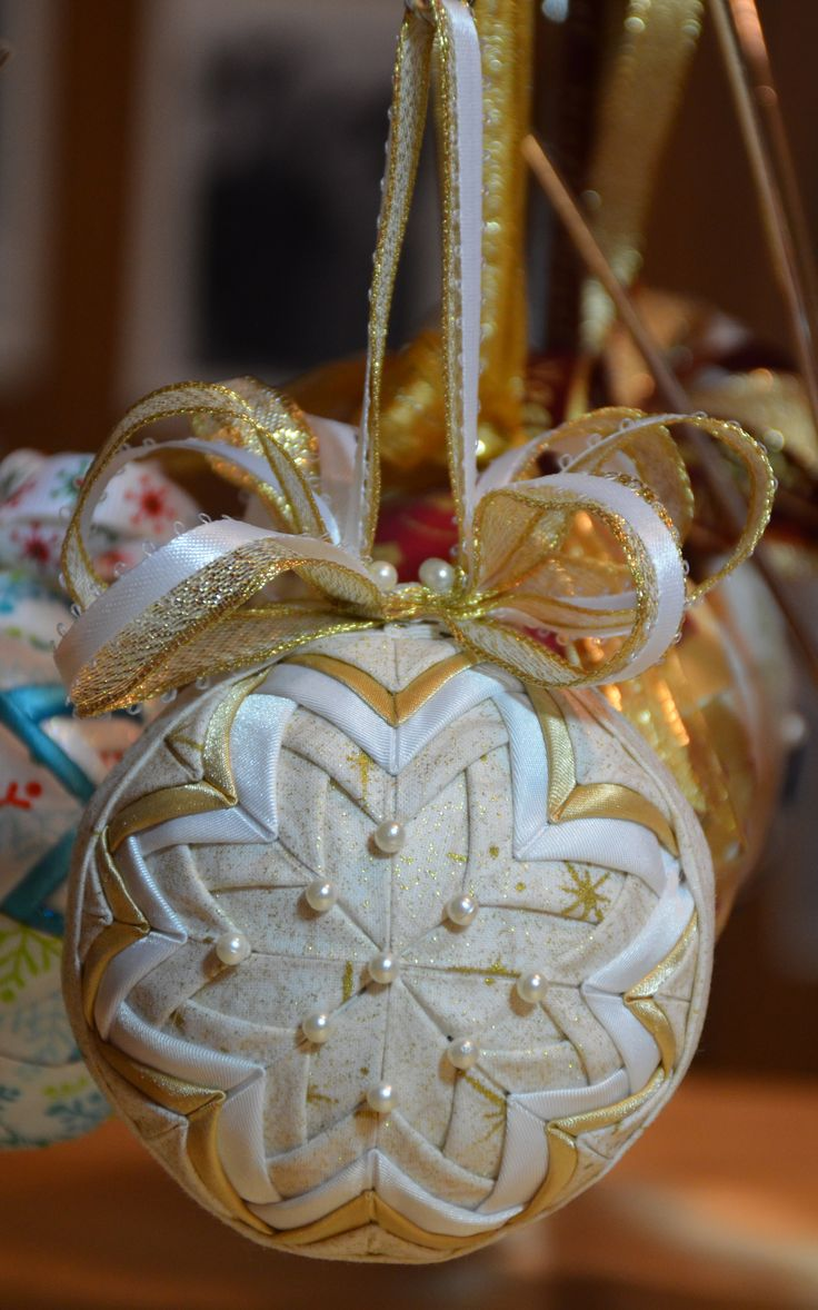 No Sew quilted ornament