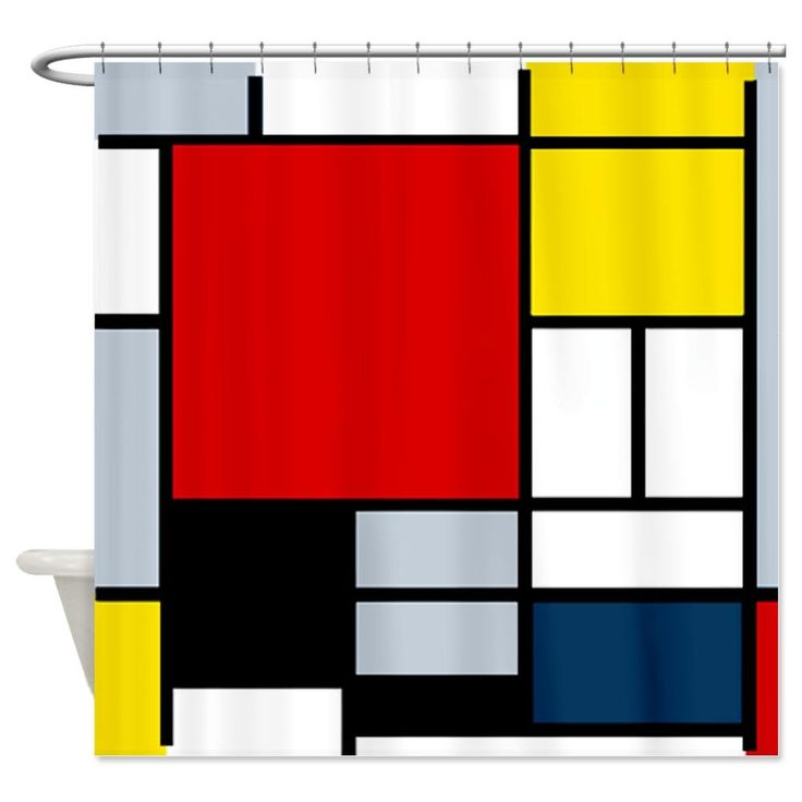 Piet Mondrian Composition Shower Curtain