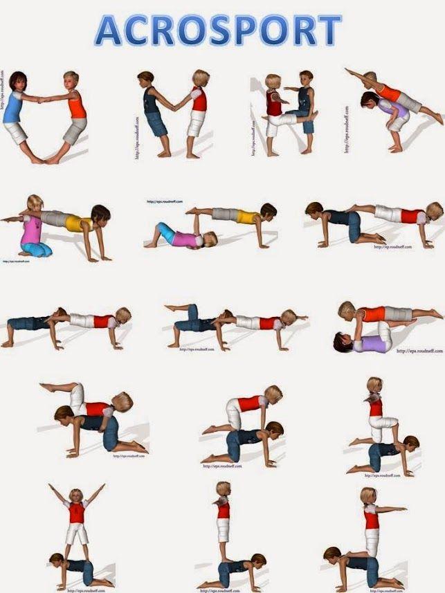 Lapsen liikunta akrobatia liikkeet tasapaino jumppa