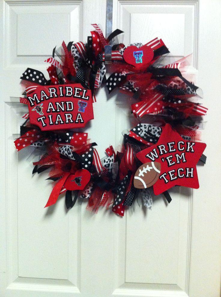 Texas Tech Dorm Wreath for my little sister!