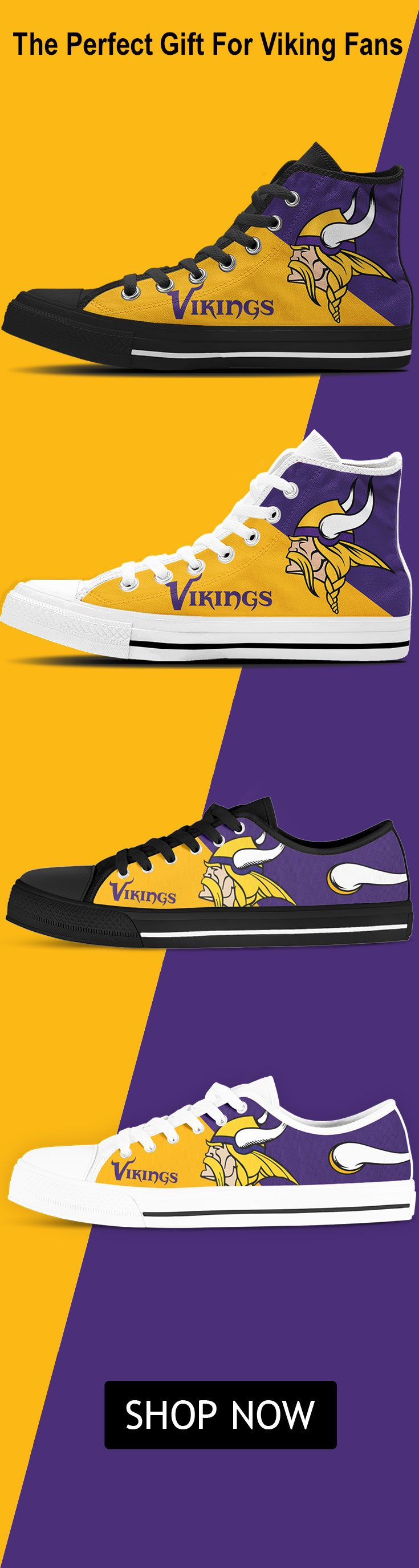 Minnesota Vikings Fan Shoes! These sneakers are what every Vikings Fan wants to get this Christmas!