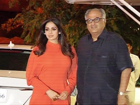 Sridevi with husband Boney Kapoor at Reema Jain's birthday party.