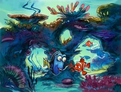 Early concept for Finding Nemo Submarine Voyage at Disneyland