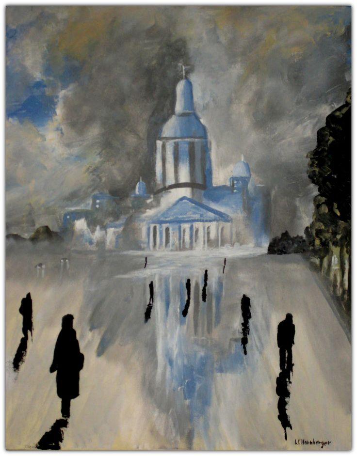 Acryl/Leinwand  40 cm x 50 cm x 1,5 cm Preis 370,- €  La Cathédrale