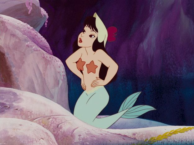 Wear starfish instead of a bra to keep your nipples moisturized. < Best Hack ever. | 40 Life Hacks From Disney Movies That Are Borderline Genius