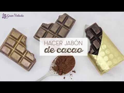 Jabon de chocolate y cacao