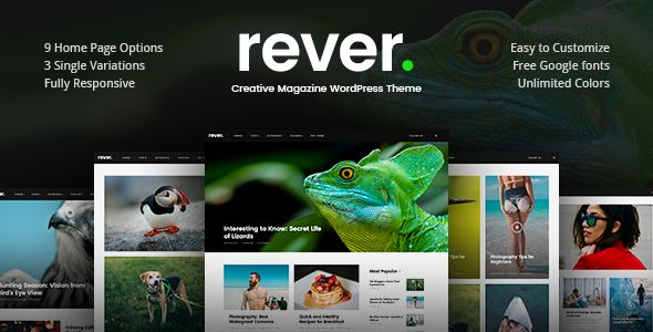 Rever Clean and Simple WordPress Theme