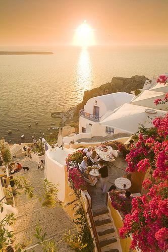 Oia Village and sunset outlook - Santorini, Greece