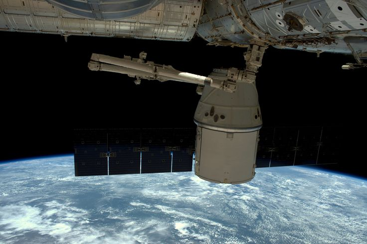 Dragon packed and undocked   by Tim Peake