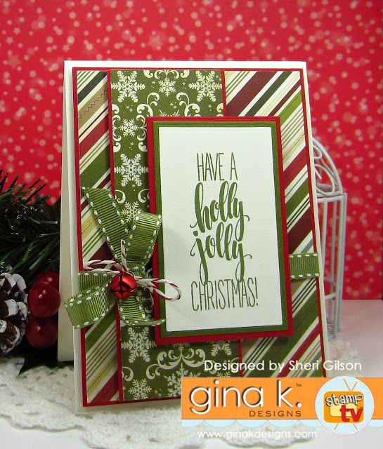 Amazing Card Making Ideas Gina K Part - 13: Have A Holly Jolly Christmas By PaperCrafty - Cards And Paper Crafts At  Splitcoaststampers