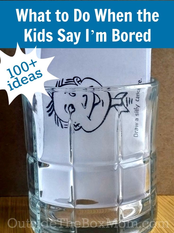 Over 100 ideas for what to do when the kids say that they are bored! Winter lasts a long time . . .